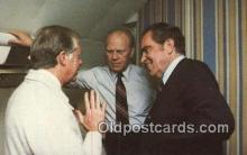 pol037002 - Boeing 707 Richard M. Nixon, Carter & Ford President Postcard Postcards