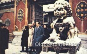 pol037003 - Peking Trip Richard M. Nixon President Postcard Postcards