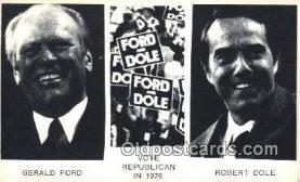 pol038004 - Vote Republican in 1976 Gerald Ford 38th USA President Postcard Postcards