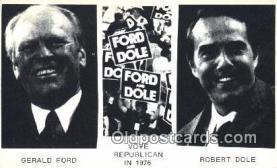 pol038006 - Vote Republican in 1976 Gerald Ford 38th USA President Postcard Postcards