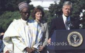 pol039066 - Prime Minister Shagari of Nigeria Jimmy Carter 39th USA President Postcard Postcards