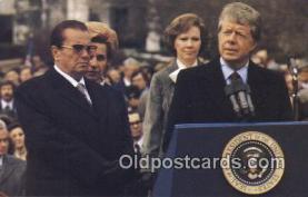 pol039084 - Mrs. Tito of Yugosiavia Jimmy Carter 39th USA President Postcard Postcards