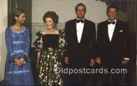 pol040004 - King Juan Carlos, Spain Ronald Regan 40th USA President Postcard Postcards