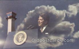 pol040035 - PATCO Ronald Regan 40th USA President Postcard Postcards