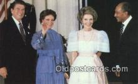 pol040054 - Egyptian President Ronald Regan 40th USA President Postcard Postcards