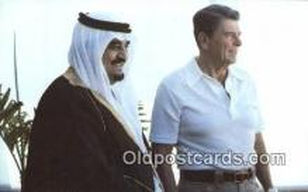 pol040067 - Crown Prince Fahd of Saudi Arabia Ronald Regan 40th USA President Postcard Postcards