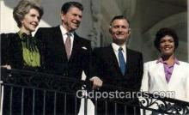 pol040077 - Jamica's Prime Minister Ronald Regan 40th USA President Postcard Postcards
