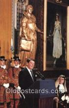 pol040099 - Westminister Abbey's Royal Gallery Ronald Regan 40th USA President Postcard Postcards