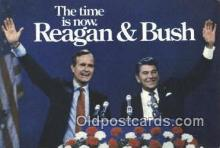 pol041006 - Reagan and Bush George Bush 41st President Postcard Postcards