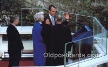 pol041013 - Oath of office George Bush 41st President Postcard Postcards