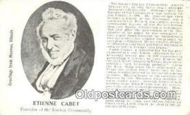pol100006 - Etienne Cabet, Nauvoo, IL USA Political Postcard Postcards