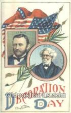pol100027 - Decoration Day, Grant and Lee USA Political Postcard Postcards