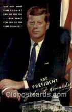 pol100044 - John F. Kennedy 35th President of United States, Political Postcard Postcards