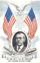 pol100143 - Woodrow Wilson President of the United States, Political Postcard Postcards