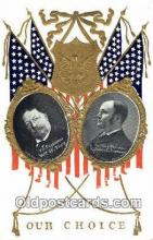 pol100151 - William Taft President of United States, James S. Sherman for Vice President, Political Postcard Postcards