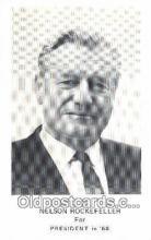 pol100186 - Nelson Rockefeller for President 1968, Political Postcard Postcards