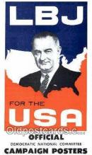 pol100194 - LB Johnson for USA president, political Postcard Postcards