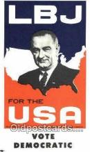 pol100195 - LB Johnson for USA president, political Postcard Postcards
