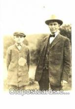 pol100206 - Calvin Coolidge and his father, 30th President of the United States, Political Postcard Postcards