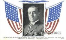 pol100277 - Woodrow Wilson President of the United States, Political Postcard Postcards