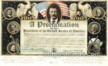pol100283 - A Proclamation Political Postcard Postcards