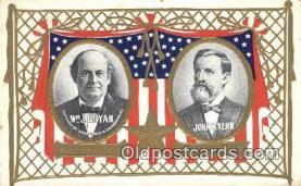 pol125015 - W.J. Bryan, John W.Kern United States Political Postcard Postcards