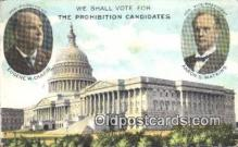 pol125047 - Eugene W. Chafin, Aaron S. Watkins United States Political Postcard Postcards