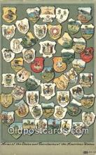pol125065 - Arms of the States and Territories of the American Union United States Political Postcard Postcards