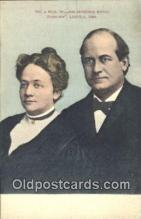 pol125093 - William Jennings Bryan United States Political Postcard Postcards
