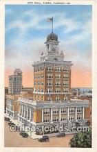 pol200010 - City Hall Tampa, Florida Political Postcard Post Card