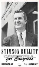 pol200048 - Non Postcard Backing - Stimson Bullitt Congress, Democrat Political Postcard Post Card
