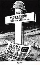 pol200054 - Killed in Vietnam Russay Bullet, Why Political Postcard Post Card