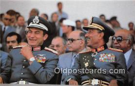 pol200073 - Egyptian President Anwar Sadat, Vice President Hosni Mubarak  Political Postcard Post Card