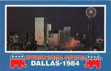 pol200075 - Republican National Convention Dallas, Texas 1984 Political Postcard Post Card