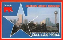 pol200078 - Republican National Convention Dallas, Texas 1984 Political Postcard Post Card