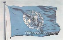 pol200089 - United Nations Nations Unies Flag of the United States Political Postcard Post Card