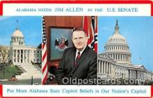 pol200098 - Jim Allen US Senate Political Postcard Post Card