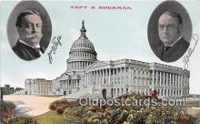 pol200104 - Taft & Sherman  Political Postcard Post Card
