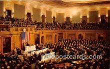 pol200126 - Joint Session US Congress Hall of Representatives Political Postcard Post Card