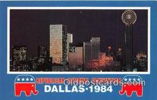 pol200127 - Republican National Convention Dallas, Texas 1984 Political Postcard Post Card