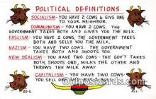 pol200152 - Political Definitions  Political Postcard Post Card
