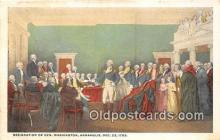 pol200155 - Resignation of Gen Washington Annapolis, Dec 23, 1783 Political Postcard Post Card