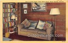 pol200157 - Sofa, Living Room, Little White House Warm Springs Political Postcard Post Card