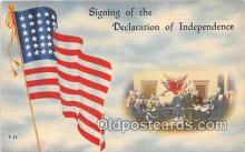 pol200176 - Signing of the Declaration of Independence, July 4, 1776  Political Postcard Post Card