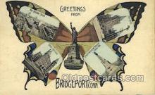 pop100022 - Greetings from Bridgeport, Conn USA Old Vintage Antique Postcard Post Card