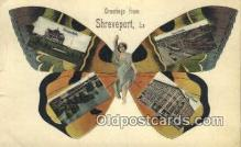 pop100023 - Greetings from Shreveport LA USA Old Vintage Antique Postcard Post Card