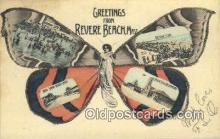 pop100028 - Greetings from Revere Beach, Mass, USA Old Vintage Antique Postcard Post Card
