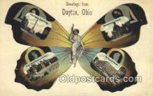 pop100030 - Greetings from Dayton, Ohio, USA Old Vintage Antique Postcard Post Card