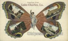 pop100033 - Greetings from Lake Charles, LA, USA Old Vintage Antique Postcard Post Card