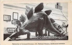 pre000001 - Restoration of Armored Dinosaur US National Museum, Smithsonian Institution Postcards Post Cards Old Vintage Antique